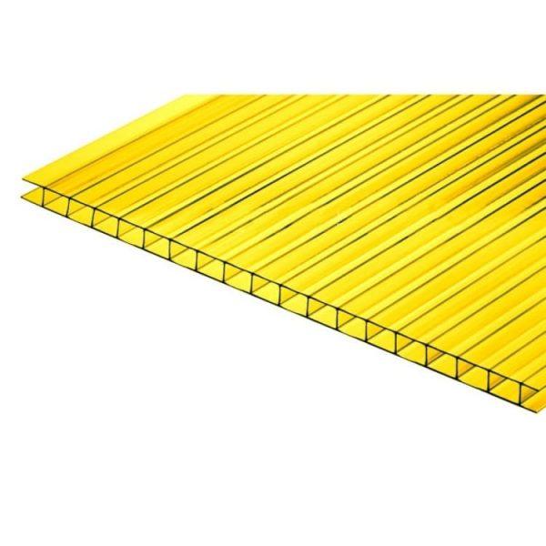 Жёлтый сотовый поликарбонат 8мм 2,05х6м