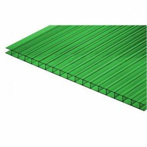 Зеленый сотовый поликарбонат 10мм 2,05х3м