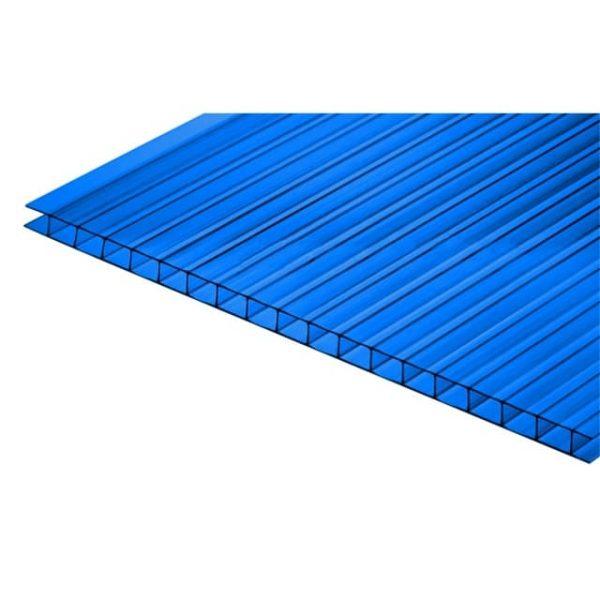 Синий сотовый поликарбонат 4мм 2,05х3м