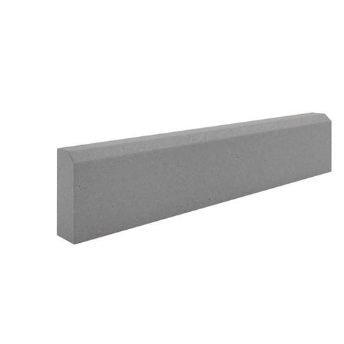 Бордюр садовый бетонный 1000х210х80мм серый