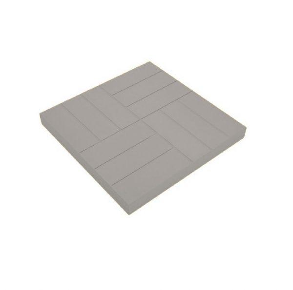 Тротуарная плитка 500х500х50мм 12 кирпичей серая