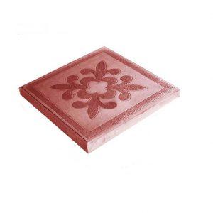 Тротуарная плитка 300х300х30мм цветок коричневая