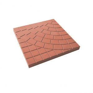 Тротуарная плитка 500х500х40мм паутина красная