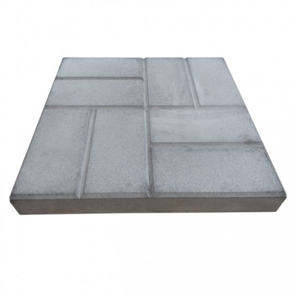 Бетонная тротуарная плитка 500х500х80мм 8 кирпичей серая
