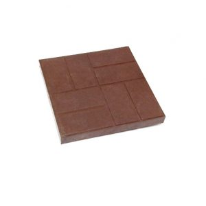 Тротуарная плитка 300х300х30мм 8 кирпичей коричневая