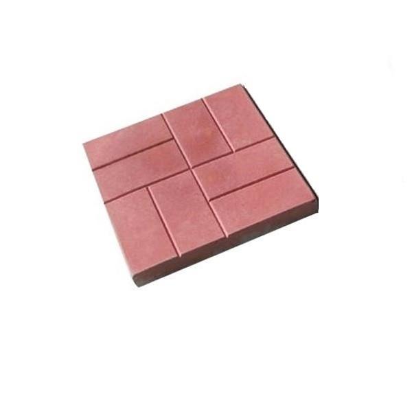 Бетонная тротуарная плитка 500х500х80мм 8 кирпичей красная