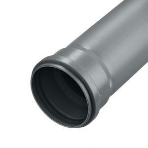 Труба канализационная 110 1м пластик для наружных работ