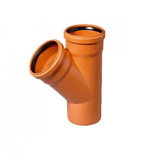 Тройник 110х110 45 пластик для наружных работ