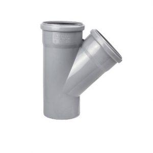 Тройник 110х110 45 пластик для внутренних работ