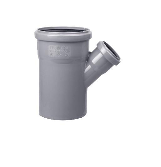 Тройник 110х50 45 пластик для внутренних работ