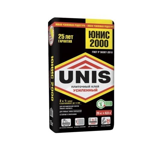 Клей для плитки высокотехнологичный UNIS 2000 25кг