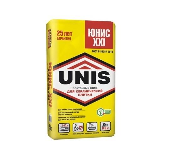 Клей для плитки и керамогранита UNIS XXI 25кг