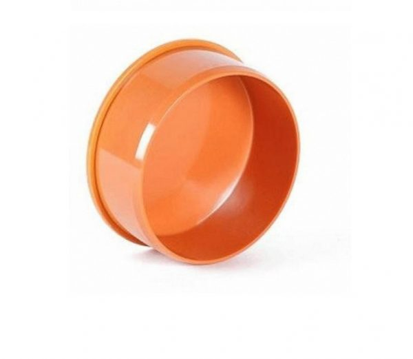 Заглушка Ø 110 мм пластик для наружных работ